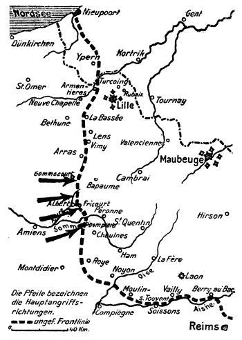 Westfront 1 Weltkrieg Karte.Der 1 Weltkrieg 4 Juli 1916